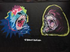#NeonKingKong King Kong, Neon, Street Art, Joker, Fictional Characters, Neon Colors, The Joker, Fantasy Characters, Jokers
