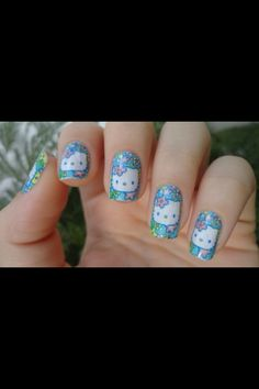 Young hello kitty nails