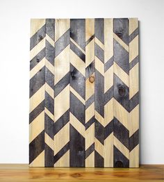 Broken Chevron Wood Wall Art in Art by Wood & Paper Co. on Scoutmob Shoppe. A beautiful broken chevron pattern dyed on an original wall sculpture handcrafted from reclaimed wood. Do It Yourself Inspiration, Design Inspiration, Wedding Inspiration, Textures Patterns, Print Patterns, Geometric Patterns, Plakat Design, Diy Décoration, Art Mural