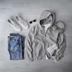 Behind The Scenes By fvshionhub Mens Wardrobe Essentials, Men's Wardrobe, How To Wash Shoes, Casual Fashion Trends, College Hoodies, Hoodie Outfit, Clothing Hacks, Grey Hoodie, College Fashion