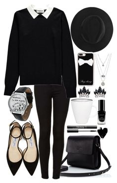 """Company Meeting"" by catherinetabor ❤ liked on Polyvore featuring Jimmy Choo, Topshop, Essentiel, Casetify, Fallon, Lucky Brand, canvas and Inglot"