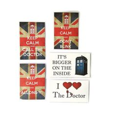 Doctor Who Magnets by Haus of Ariella on Etsy