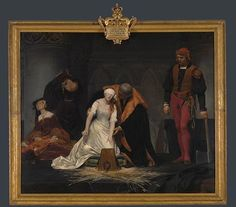 In his painting, Delaroche imagines the Execution of Jane Grey, 12th February 1554.