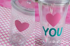 Tutorial :: How to decorate tumbler cups with vinyl & your Silhouette Portrait or CAMEO
