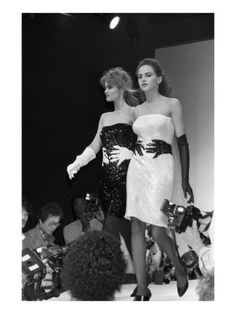 Sequined 'hugs' dresses from Marc Jacobs Fall/Winter 1986, via WWD