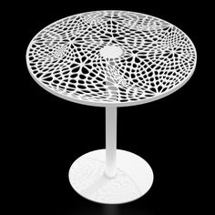"""Arktura Coral Cafe Table Size: 29.5"""" H x 30"""" Diameter, Finish: White"""