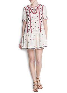 Boho embroidered dress