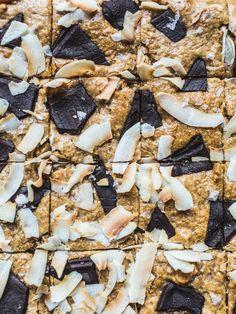 Flourless Chocolate Chunk + Coconut Blondies {Grain Free, Gluten Free + Dairy Free}
