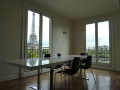 A modern and spacious office/work space with views of Paris, France and the Eiffel Tower. Coldwell Banker Demeure Prestige $3,898,229