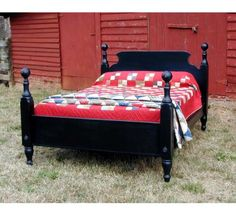 Farmhouse Tavern Bed: The Farmhouse Tavern bed features wonderful turned posts with ball tops that support a simply styled headboard and footboard. A classic county bed that has never gone out of style. This style of bed could be found in just about every farmhouse since colonial times. Available in four different stains or nine paint colors. Made in the USA.