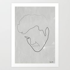 One line Elvis Art Print by quibe - $18.72