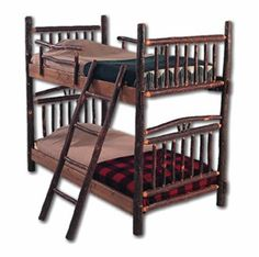 Hickory Bunk Beds - Item # BR04011 - Available in Twin over Twin, Twin over Full, Full over Full or Full over Queen