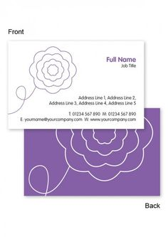 How to order business cards online edit free business card flower business cards free business card templates from printrepublic co reheart Image collections