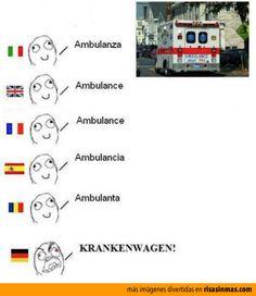 Cómo se dice ambulancia en diferentes idiomas.