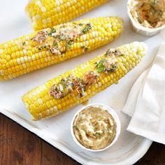 Une recette à essayer lors des épluchettes cet été! Time To Eat, Sweet Corn, Bacon, Bbq, Vegetables, Color Themes, Sauces, Food, Country