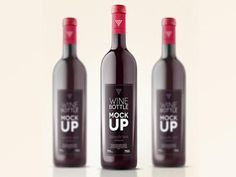 Psd Wine Bottle Mockup Template designed by Pixeden. the global community for designers and creative professionals. Identity, Wine Bottle Design, Wine Packaging, Label Templates, Bottle Mockup, Wine Label, Red Wine, Alcoholic Drinks, How To Apply