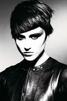 Stylish and Edgy Asymmetrical haircut with a sharp fringe