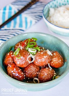Recept: Gehaktballetjes met teriyakisaus | Proef Japan Snacks, Tapas Food, Appetizers, Treats, Finger Food