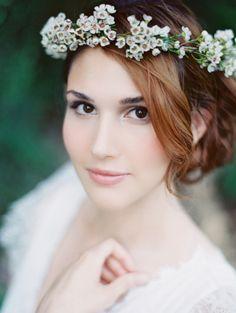 waxflower headdress / flowercrown Heather Moore Photography. For flower girl