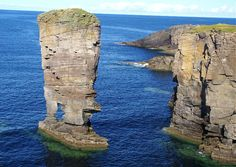 Not quite staight stack - West Mainland, Orkney Islands