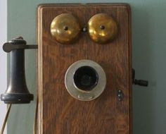 Vintage wall phone picture - Antique 30;s