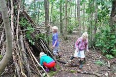 Kom je eigen hut bouwen in het speelbos. Activiteitencentrum Nationaal Park Lauwersmeer.