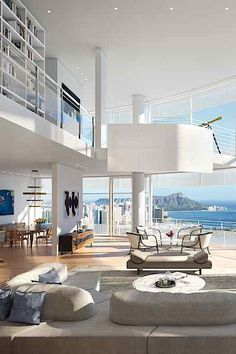 Gateway Towers, an architectural landmark and home in the sky. By #architect Richard Meier | #Honolulu #Hawaii