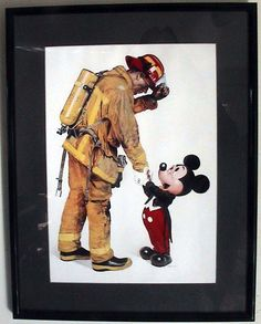 Mickey Mouse Firefighter Tribute