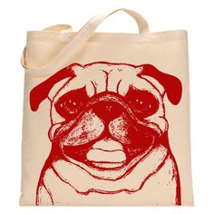 Ruby the Pug Tote Bag: Handbags: Amazon.com