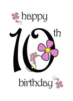 Happy 10th Birthday To An Amazing Girl Daisy Chain Greeting Card