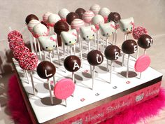 How to make Hello Kitty Cake Pops Cake pop molds Hello kitty