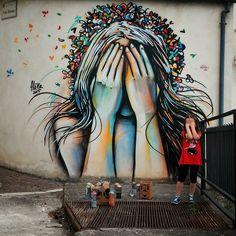 Alice - Italian Street Artist - Campomarano (IT) - 05/2015 - |\*/| #alice #alicepasquini #streetart #italy
