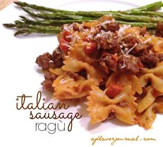 Spicy, rich, cozy ... an awesome date night at home entree!  spicy italian sausage ragu   aflavorjournal.com