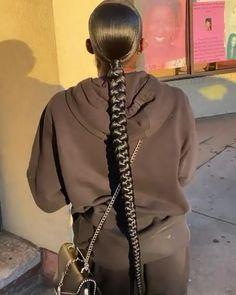 Hair Ponytail Styles, Slick Ponytail, Curly Hair Styles, Natural Hair Styles, Braids Hairstyles Pictures, Hair Pictures, Baddie Hairstyles, Ponytail Hairstyles, Braided Ponytail Weave
