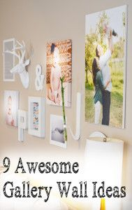 9 Awesome gallery wall ideas - I love gallery walls so much and these are some great ideas that anyone can do!