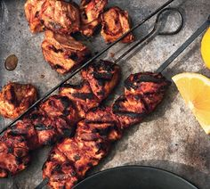Yogurt-Marinated Chicken Kebabs Entree Recipes, Grilling Recipes, Indian Food Recipes, Healthy Recipes, Yummy Recipes, Turkey Recipes, Chicken Recipes, Turkey Dishes, Chicken Meals