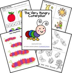 June 25: Eric Carle's Birthday! The Very Hungry Caterpillar Free Unit Study Lesson Lapbook Printables