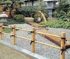 Resultado de imagem para bamboo garden edging