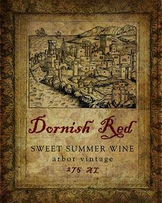 Game of Thrones wine label