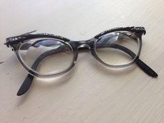 Vintage rockability cateye glasses