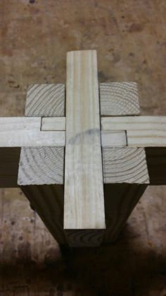 Half lap/ bridle joint hybrid Best Picture For Woodworking Techniques tips For Your Taste You are looking for something, and it is going to tell you exactly what you are looking for, and you didn't fi Japanese Woodworking Tools, Woodworking Joints, Woodworking Workshop, Woodworking Techniques, Woodworking Furniture, Woodworking Plans, Diy Furniture, Woodworking Projects, Wood Joining