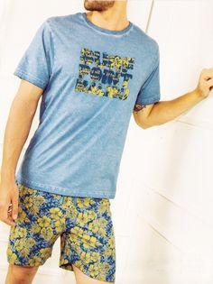 Pijama Admas Surf #menswear #menstyle #homewear #menunderwear http://www.varelaintimo.com/40-pijamas