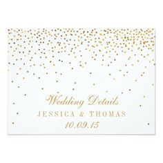 The Vintage Glam Gold Confetti Wedding Collection