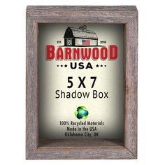 "BarnwoodUSA Shadow Box Picture Frame Size: 5"" x 7"""