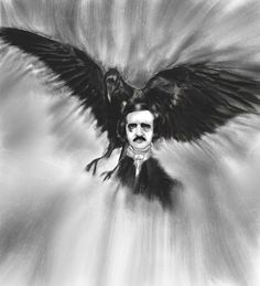 """Edgar Allan Poe""-part of the Authors of Horror series. Check out our Facebook page and website for more artwork and commission info!  www.facebook.com/ElysiaBloom http://elysiabloo7.wix.com/megan-noelle"