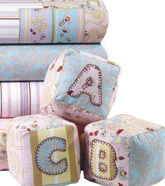 Soft alphabet blocks for a little one :) #babyshower