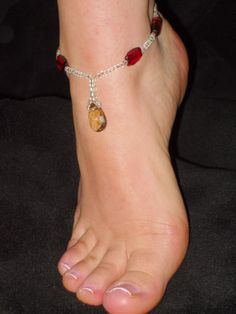 BRIDAL BAREFOOT SANDAL BEACH JEWELLERY BELLY DANCE ANKLET FOOT THONG TOE RING | eBay
