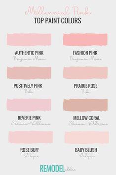 Remodelaholic Color Files Top Millennial Pink Paint Colors