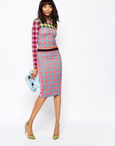Pin for Later: Refresh Your Gingham For Summer House of Holland Gingham Zip Tube Skirt House of Holland Gingham Zip Tube Skirt (£85)