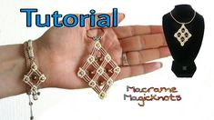 Micro Macrame Big Square Pendant Tutorial ♥ Macrame Magic Knots ♥ DIY